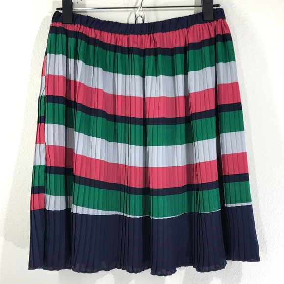 Cossette Dresses & Skirts - Cossette Multi Striped Pleated Skirt Size Medium